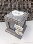 Shabby Chic Rustic Wood Style Personalised Wedding Gift Photo Cube Box Present